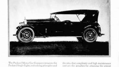 Packard Eight Debut - 1923