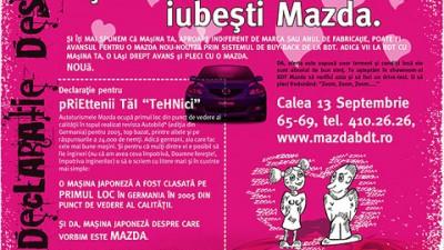 Mazda - Declaratie despre tine