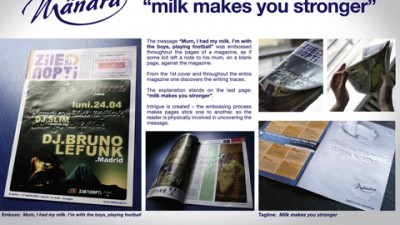 Mandra - The Note: Cel mai bun Ad de presa, Cel mai bun print in categoria Bauturi Nealcoolice, Innovative Media