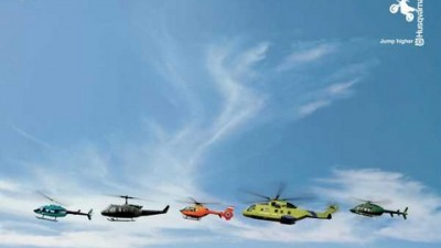Husqvarna Motorcycles - Helicopters