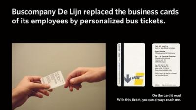 De Lijn Business Cards - Bus tickets