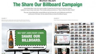 James Ready - Share Our Billboard Campaign