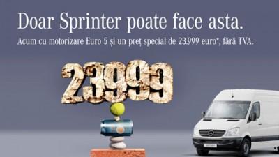 Mercedes - Doar un Sprinter poate face asta