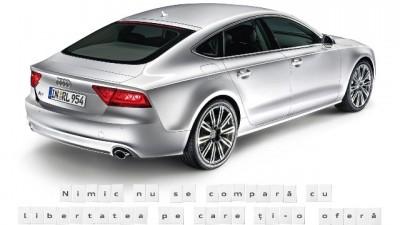 Audi A7 - Foaia goala de hartie