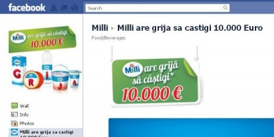 [UPDATE] Syscom Digital a lansat pentru Milli o aplicatie care permite inscrierea pe Facebook a codurilor din campanii promotionale
