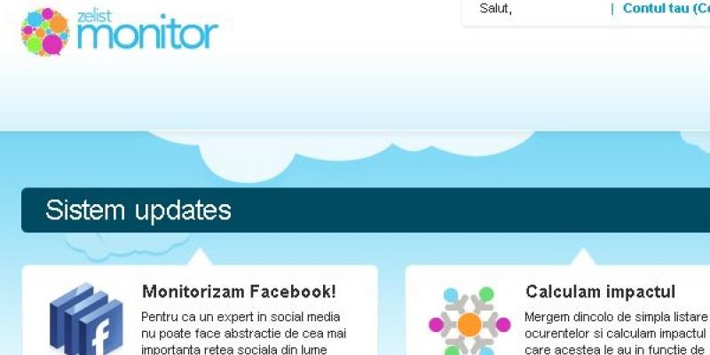 Relansarea Zelist Monitor aduce in plus: monitorizarea Facebook si a unor forumuri romanesti, date geo-demografice si masurarea impactului mesajului