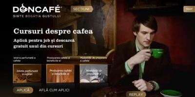 """Doncafe ofera jobul de """"degustator de cafea Doncafe"""" in campania promotionala semnata de The Geeks"""