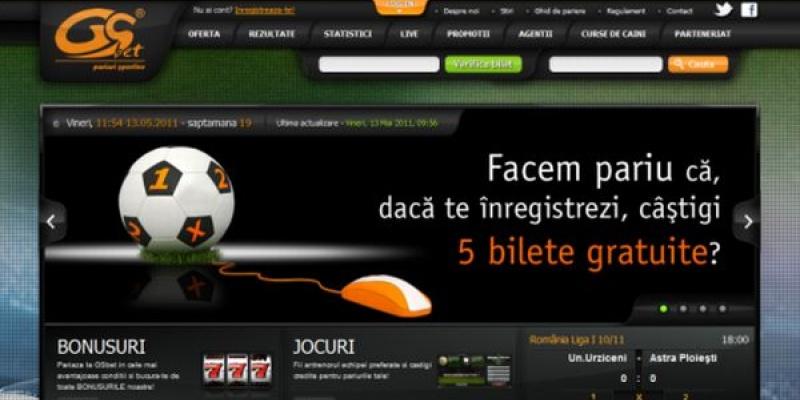 Infinit Solutions a dezvoltat platforma interactiva a site-ului GSbet.ro