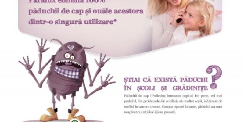 Campania de promovare a produsului Paranix realizata de Itsy Bitsy a avut scopul de a informa parintii in legatura cu tratamentul impotriva paduchilor