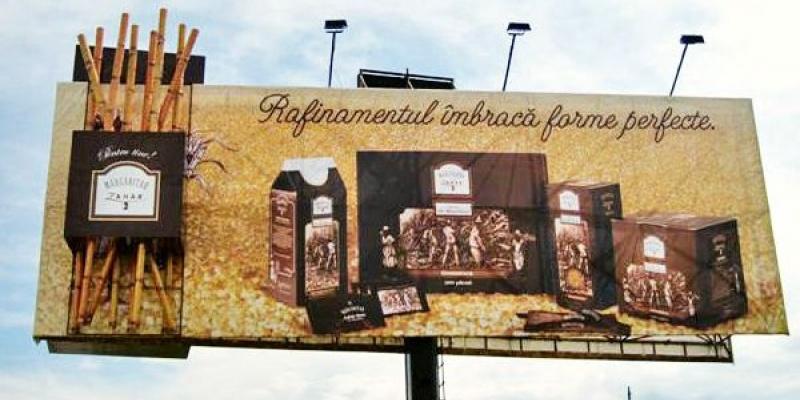 Brandstalk realizeaza OOH-ul neconventional pentru lansarea sortimentelor Margaritar Demerara si Golden Granulated