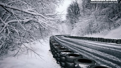 Bridgestone Tyres - Snowy Road