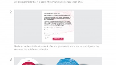 Millennium Bank - Bucuria de casa noua (direct mail)