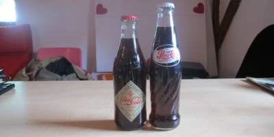 Vintage Coca-Cola vs. Retro Pepsi-Cola