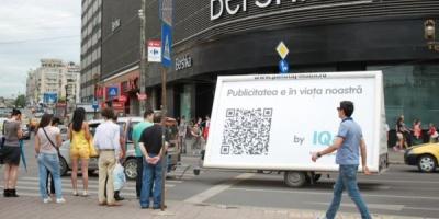 """MVcom a furnizat Outdoor-Mobil & QR code in campania IQads – """"Totul despre publicitate"""""""