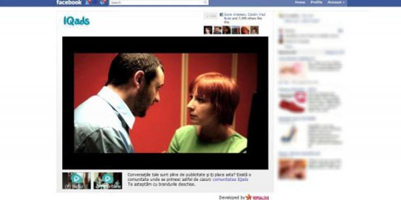 """Republika Interactive a implementat aplicatia de Facebook """"Brands+Friends"""" pentru campania de relansare IQads"""