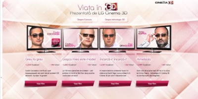 "4 bloggeri au strans 1500 de voturi in campania LG Electronics – ""Viata in 3D"", dezvoltata de Kinecto"