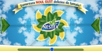 Si acum o sa va hipnotizez cu lamaile din acest banner interactiv Nestea!