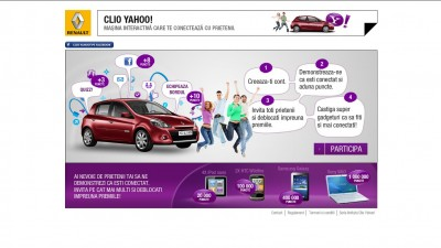 Renault Clio Yahoo! – Masina interactiva