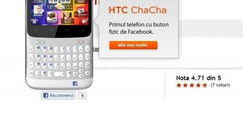 Campanie online pentru butonul de Facebook al HTC Cha Cha: Apasa-l!