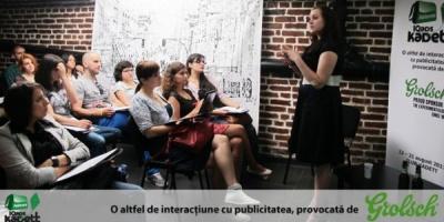 Brief-ul pentru Atelierele IQads Kadett a fost dat de Andreea Munteanu (Grolsch)