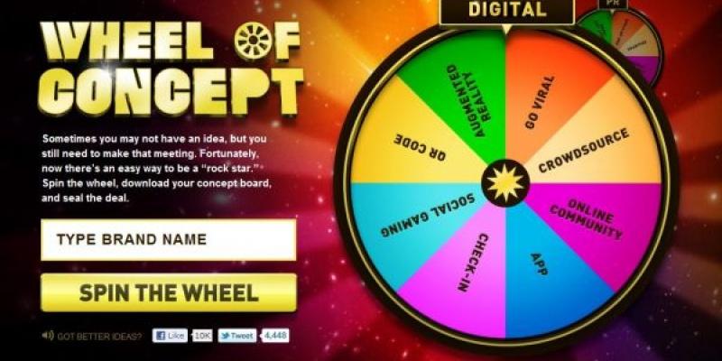 The Wheel of Concept - sa aleaga soarta ce concept ii aratam clientului