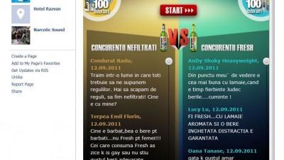 Aplicatie de Facebook: Bergenbier Nefiltrat vs. Fresh 2