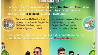Aplicatie de Facebook: Bergenbier Nefiltrat vs. Fresh (cum castig)