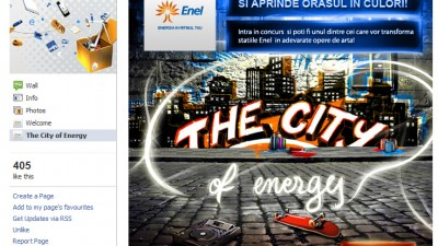Aplicatie Facebook: Enel Sharing Romania – The city of Energy (start)