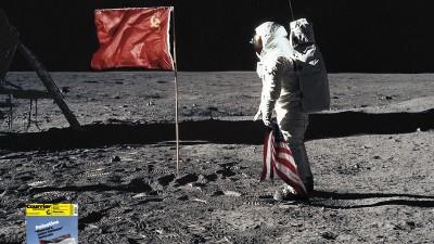 Courrier International Newspaper - Moon landing