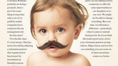 Folksam - Baby with moustache