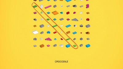 Lego - Words puzzle, Crocodile