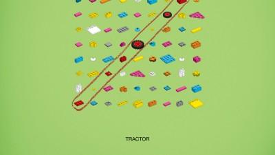 Lego - Words puzzle, Tractor