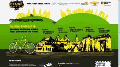 Microsite: Raiffeisen Bank - Orasulpebicicleta.ro (Homepage)