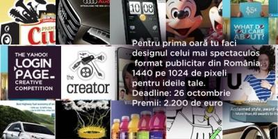 A inceput competitia de creatie pentru realizarea layout-ului celui mai spectaculos format publicitar din Romania: The Yahoo! Login Page