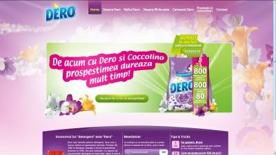 Site: Dero.ro – La tine cat dureaza (homepage)