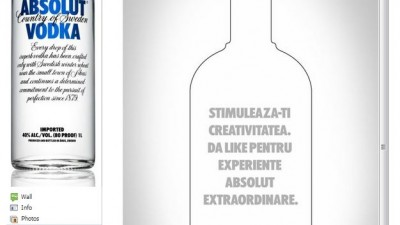 Facebook: Absolut Romania - Landing page