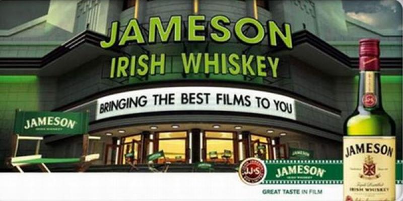 Asocierea brandului Jameson cu cinematografia: competitii de scurtmetraje, proiectii de filme si sponsorizari de festivaluri