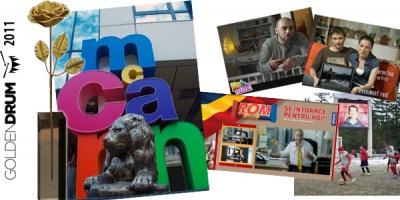 McCann, Agentia Anului la Golden Drum 2011, cu 12 trofee pentru campanii Vodafone si ROM: 4 Grand Prix-uri, 6 Golden Drums si 2 Silver Drums