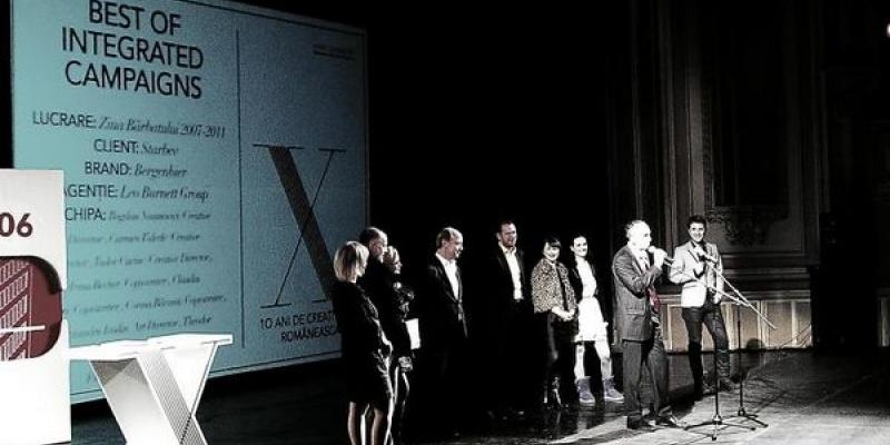 """Cele mai bune reclame romanesti din ultimul deceniu au fost premiate in cadrul galei """"10 ani de creativitate romaneasca"""""""