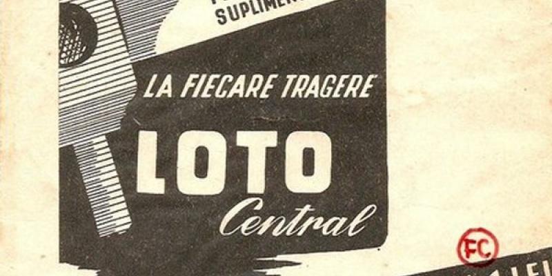 Printuri vechi cu Loteria Nationala Romana