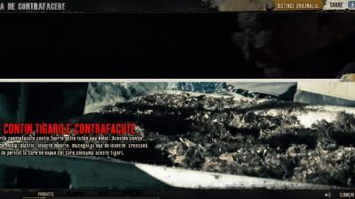 Website: Fabricadecontrafacere.ro - Ce contin tigarile contrafacute