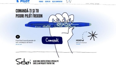 Website: Pilot Frixion - pilotfrixio.ro