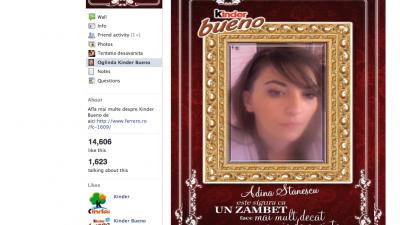 Aplicatie de Facebook: Kinder Bueno - Oglinda