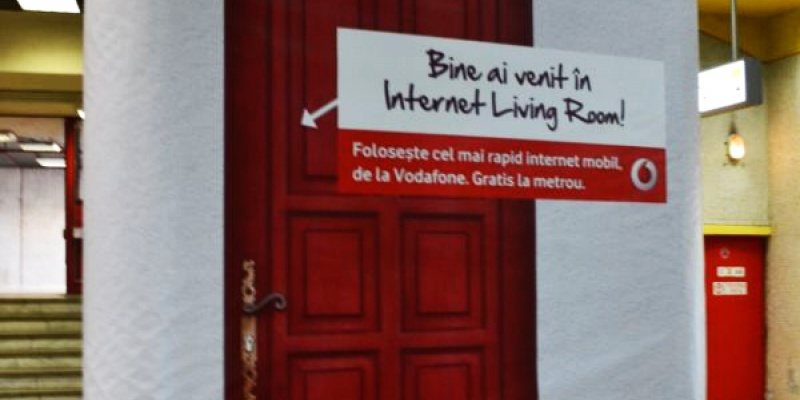 Vodafone a creat Internet Living Room la metrou