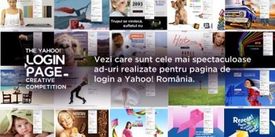 The Yahoo! Login Page Creative Competition. 183 de lucrari finaliste, 3 castigatori.
