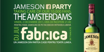 Jameson Romania ofera primilor 10.000 de fani un concert The Amsterdams