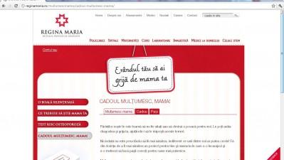 Website: REGINA MARIA - Cadoul Multumesc Mama