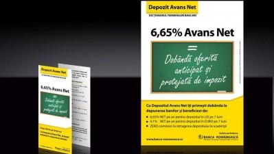 Banca Romaneasca - Depozit Avans Net (flyer)