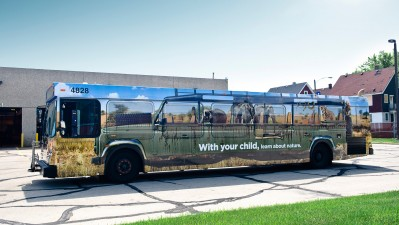 COA's HIP Program (Having Involved Parents) - Bus wrap safari