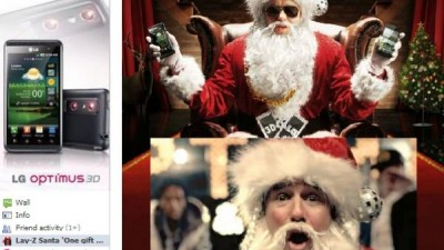 Facebook: LG Optimus - LAY-Z Santa